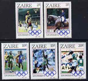 Zaire 1984 Los Angeles Olympic Games perf set of 5 unmounted mint SG 1195-9