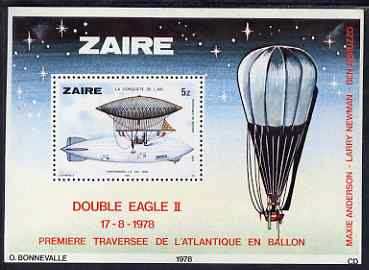 Zaire 1978 History of Aviation perf m/sheet unmounted mint SG MS 935