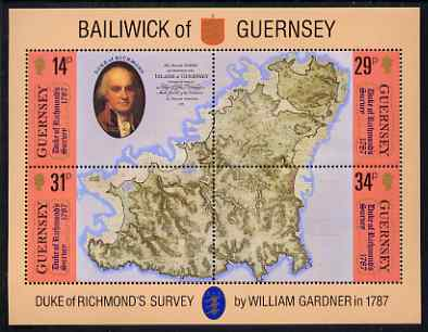 Guernsey 1987 Bicentenary of Survey of Guernsey perf m/sheet unmounted mint, SG MS 393