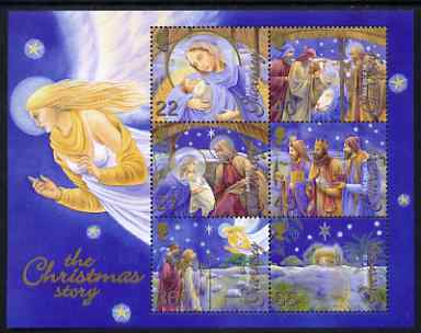Guernsey 2002 Christmas - The Nativity perf m/sheet unmounted mint, SG MS 978