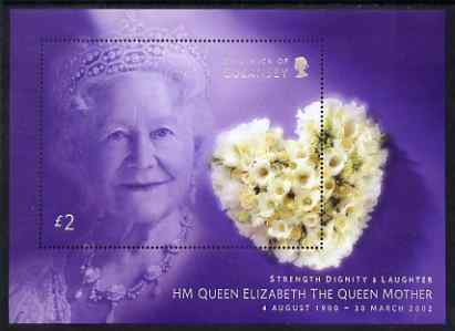 Guernsey 2002 Queen Elizabeth the Queen Mother Commemoration perf m/sheet unmounted mint, SG MS 971