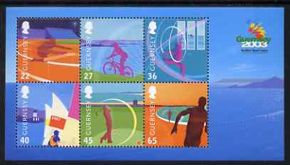 Guernsey 2003 Island Games perf m/sheet unmounted mint, SG MS 990