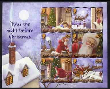 Guernsey 2003 Christmas - Twas the Night Before Christmas perf m/sheet unmounted mint, SG MS 1015