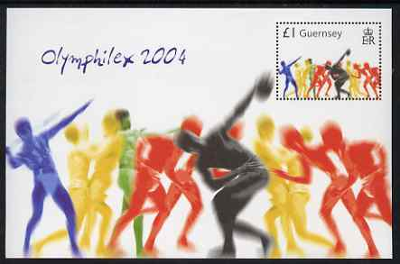 Guernsey 2004 Athens Olympic Games perf m/sheet unmounted mint, SG MS 1049