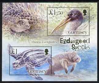 Guernsey 2006 Endangered Species of the Florida Everglades perf m/sheet unmounted mint, SG MS 1096