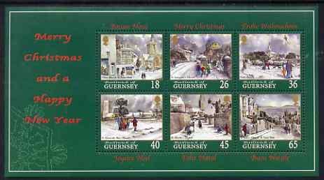 Guernsey 2000 Christmas - Churches perf sheetlet containing set of 6 values unmounted mint, SG 877-82