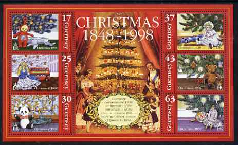 Guernsey 1998 Christmas - The Christmas Tree perf sheetlet containing set of 6 values unmounted mint, SG 810-15