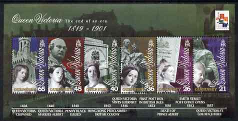 Guernsey 2001 Death Centenary of Queen Victoria perf sheetlet containing set of 6 values unmounted mint, SG MS890