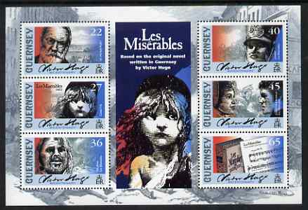 Guernsey 2002 Victor Hugo's Les Miserables perf sheetlet containing set of 6 values unmounted mint, SG MS 941