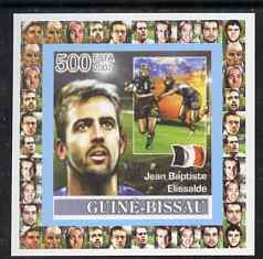 Guinea - Bissau 2007 Rugby - Jean-Baptiste Elissalde individual imperf deluxe sheet unmounted mint. Note this item is privately produced and is offered purely on its thematic appeal