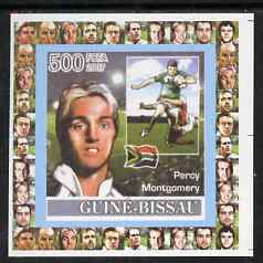 Guinea - Bissau 2007 Rugby - Percy Montgomery individual imperf deluxe sheet unmounted mint. Note this item is privately produced and is offered purely on its thematic appeal