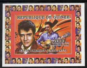 Guinea - Conakry 2006 Elvis Presley individual imperf deluxe sheet #3, unmounted mint. Note this item is privately produced and is offered purely on its thematic appeal as Yv 324