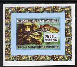 Guinea - Conakry 2007 Turtles & Fish individual imperf deluxe sheet #2, unmounted mint. Note this item is privately produced and is offered purely on its thematic appeal as Yv 523