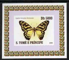 St Thomas & Prince Islands 2008 Butterflies individual imperf deluxe sheet #2 unmounted mint. Note this item is privately produced and is offered purely on its thematic appeal