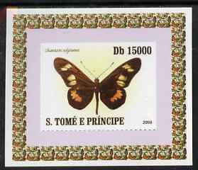 St Thomas & Prince Islands 2008 Butterflies individual imperf deluxe sheet #5 unmounted mint. Note this item is privately produced and is offered purely on its thematic appeal