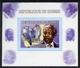Guinea - Conakry 2006 The Humanitarians - Nelson Mandela individual imperf deluxe sheet with The Pope & Gandhi in margins, unmounted mint. Note this item is privately produced and is offered purely on its thematic appeal similar to Yv 333