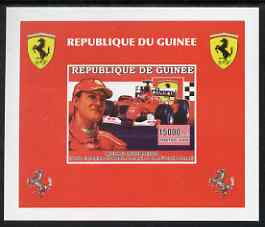 Guinea - Conakry 2006 Ferrari individual imperf deluxe sheet #3 showing Michael Schumacher, unmounted mint. Note this item is privately produced and is offered purely on its thematic appeal