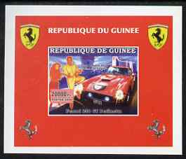 Guinea - Conakry 2006 Ferrari individual imperf deluxe sheet #4 showing Elvis & Viva Las Vegas, unmounted mint. Note this item is privately produced and is offered purely on its thematic appeal