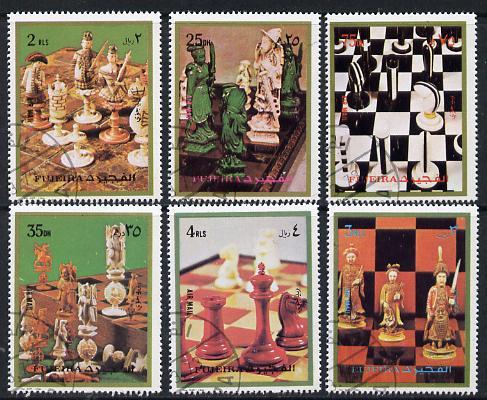 Fujeira 1972 Chess perf set of 6 cto used, Mi 1319-24*