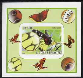 St Thomas & Prince Islands 2008 Butterflies individual imperf deluxe sheet #6 unmounted mint. Note this item is privately produced and is offered purely on its thematic appeal