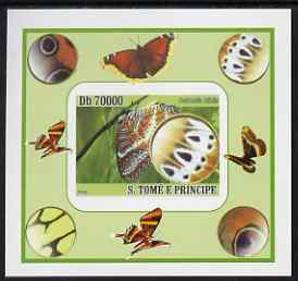 St Thomas & Prince Islands 2008 Butterflies individual imperf deluxe sheet #7 unmounted mint. Note this item is privately produced and is offered purely on its thematic appeal
