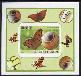 St Thomas & Prince Islands 2008 Butterflies individual imperf deluxe sheet #9 unmounted mint. Note this item is privately produced and is offered purely on its thematic appeal