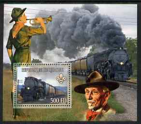 Djibouti 2007 Steam Trains #2 perf m/sheet with Scouts in background unmounted mint