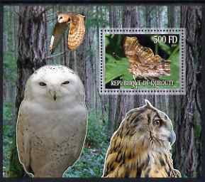 Djibouti 2006 Owl & Butterfly #1 perf m/sheet unmounted mint. Note this item is privately produced and is offered purely on its thematic appeal