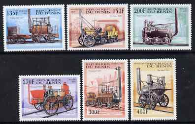 Benin 1997 Early Steam Engines complete perf set of 6 unmounted mint. Note this item is privately produced and is offered purely on its thematic appeal, SG 1691-96