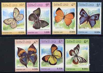 Laos 1986 Butterflies complete set of 7 unmounted mint, SG 883-89*