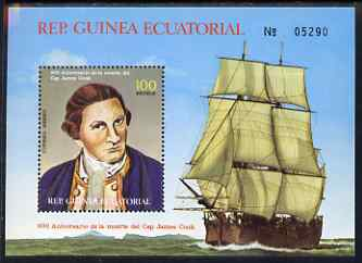 Equatorial Guinea 1979 Death Bicentenary of James Cook perf m/sheet unmounted mint