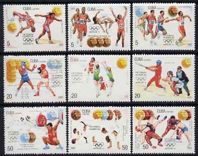 Cuba 1992 Cuban Olympic Gold Medal Winners at Barcelona complete set of 9 unmounted mint, SG 3760-8