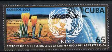 Cuba 2003 United Nations Convention on Derserification 5c unmounted mint SG 4476
