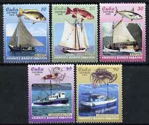 Cuba 2005 Ships - Fishing & Merchant Shipping perf set of 5 unmounted mint SG 4837-41