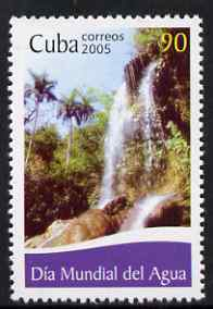 Cuba 2005 World Water Day 90c unmounted mint SG 4836