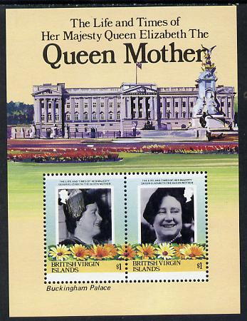 British Virgin Islands 1985 Buckingham Palace (Queen Mother) m/sheet unmounted mint, SG MS 587