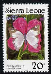 Sierra Leone 1987-89 Butterflies 20c (Stugeta marmorea) with Country name in black & 1989 imprint date P12.5 x 11.5 unmounted mint, SG 1029Bc