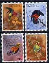 Papua New Guinea 1967 Christmas - Territory Parrots set of 4 unmounted mint, SG 121-24
