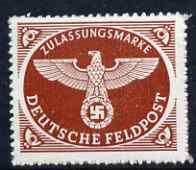 Germany 1942 Military Field Post for Parcels nvi lake-brown rouletted unmounted mint SG M805a