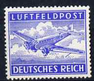 Germany 1942 Military Field Post for Air Mail nvi ultramarine perf 13.5 unmounted mint SG M804