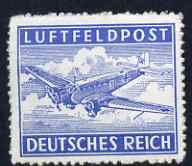 Germany 1942-3 Military Field Post for Air Mail nvi ultramarine rouletted unmounted mint SG M804a
