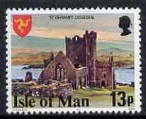 Isle of Man 1978-81 St German's Cathedral 13p perf 14.5 (from def set) unmounted mint, SG 120a