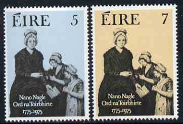 Ireland 1975 Bicentenary of Presentation Order of Nuns set of 2 unmounted mint, SG 376-77