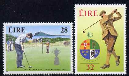 Ireland 1991 Golf Commemorations set of 2 unmounted mint, SG 814-15