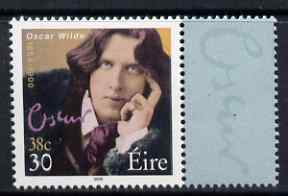 Ireland 2000 Oscar Wilde 30p (38c) with se-tenant label, unmounted mint, SG 1309