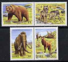 Ireland 1999 Extinct Irish Animals (Mammoth, Giant Deer,Wolves & Brown Bear) set of 4 in 2 x se tenant pairs unmounted mint, SG 1270a & 1272a