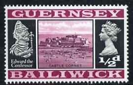 Guernsey 1969-70 1/2d Castle Cornet and Edward the Confessor unmounted mint SG 13