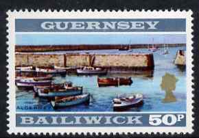 Guernsey 1971-73 View of Alderney 50p unmounted miint SG 58
