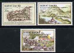 St Lucia 1995 Bicentenary of Battle of Rabot set of 3 unmounted mint, SG 1109-11