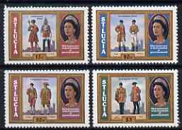 St Lucia 1978 25th Anniversary of Coronation set of 4 unmounted mint, SG 468-71